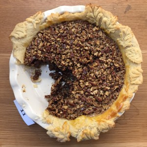 Jennifer Kehoe's Pecan Pie with gorgeous leaf cut crust.