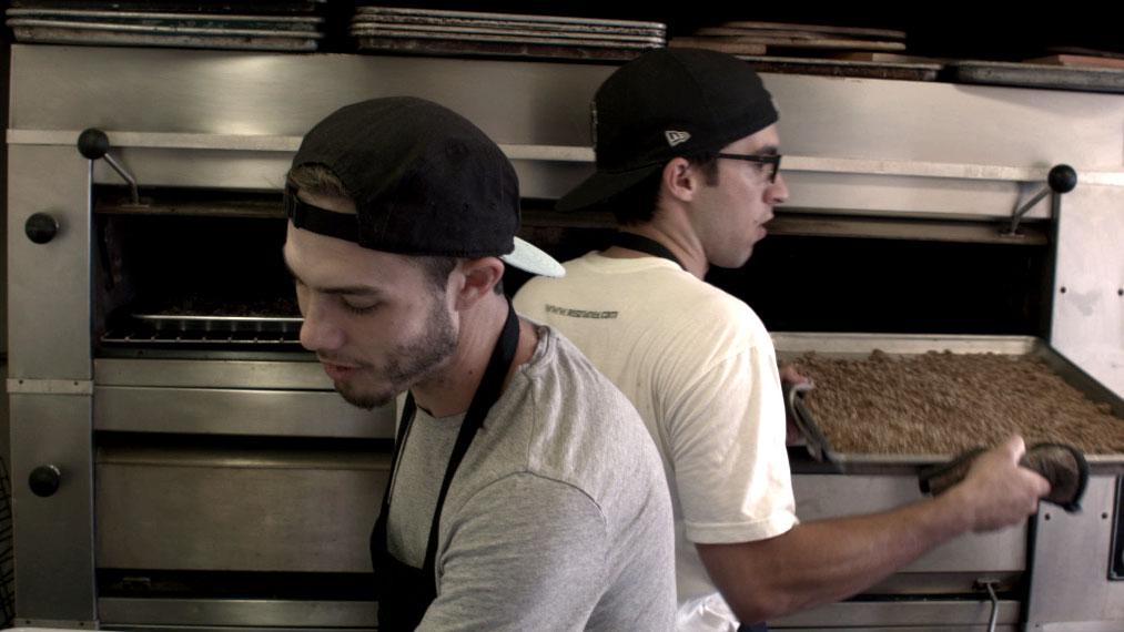 Daniel and Jordan baking