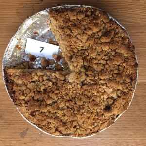 Apple Pie with streusel topping by Anton and Elsie Hottner. Excellent!